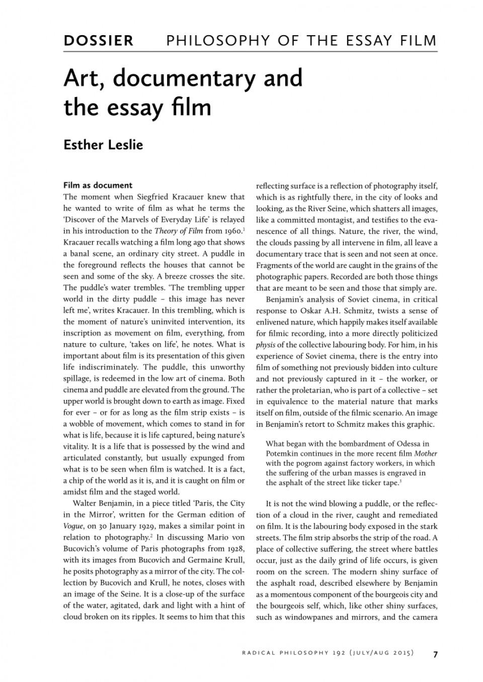 Films essay