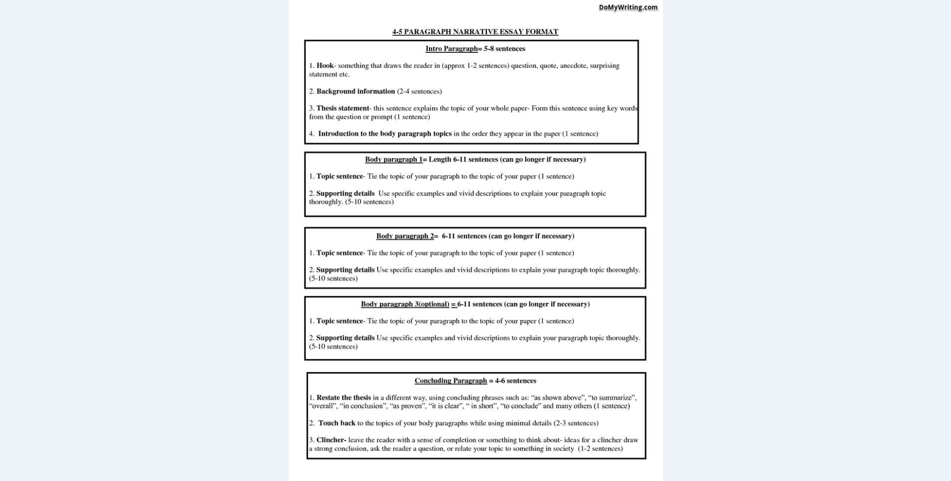 004 Narrative Essay Format Unique Personal Examples For Middle School High Pdf Full