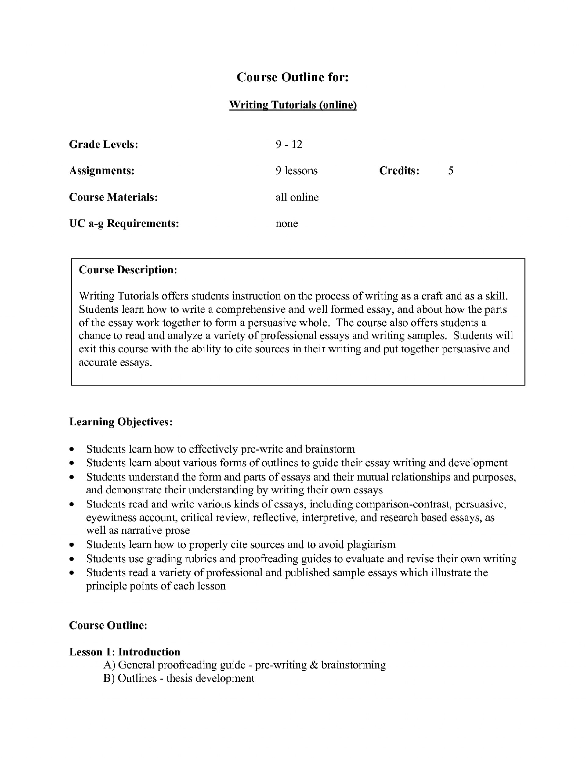 004 Narrative Essay Outline Example Examples 569199 Wonderful College Template Personal 1920