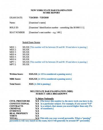 015 California Bar Essays February Term Paper Academic