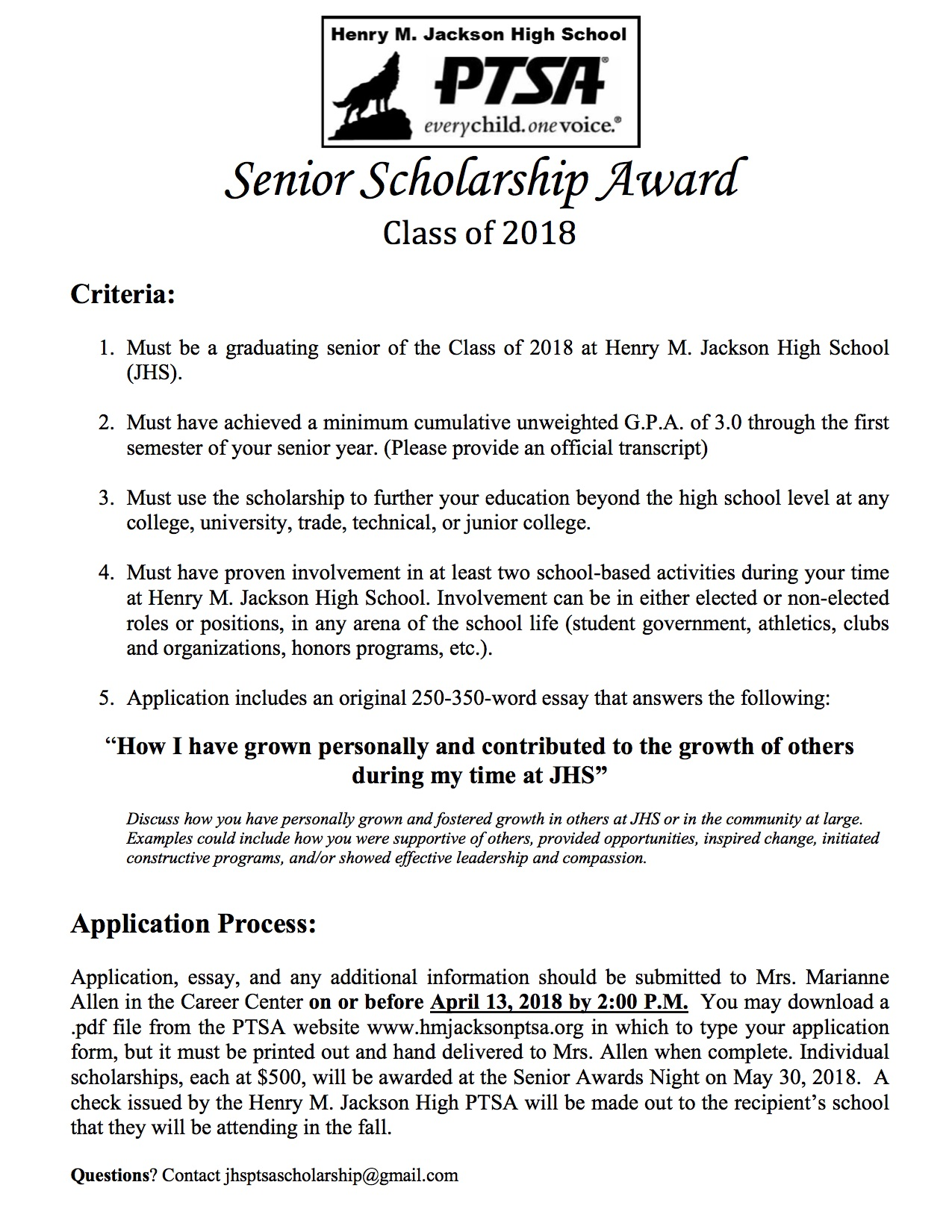 004 no essay scholarships for college students senior henry m