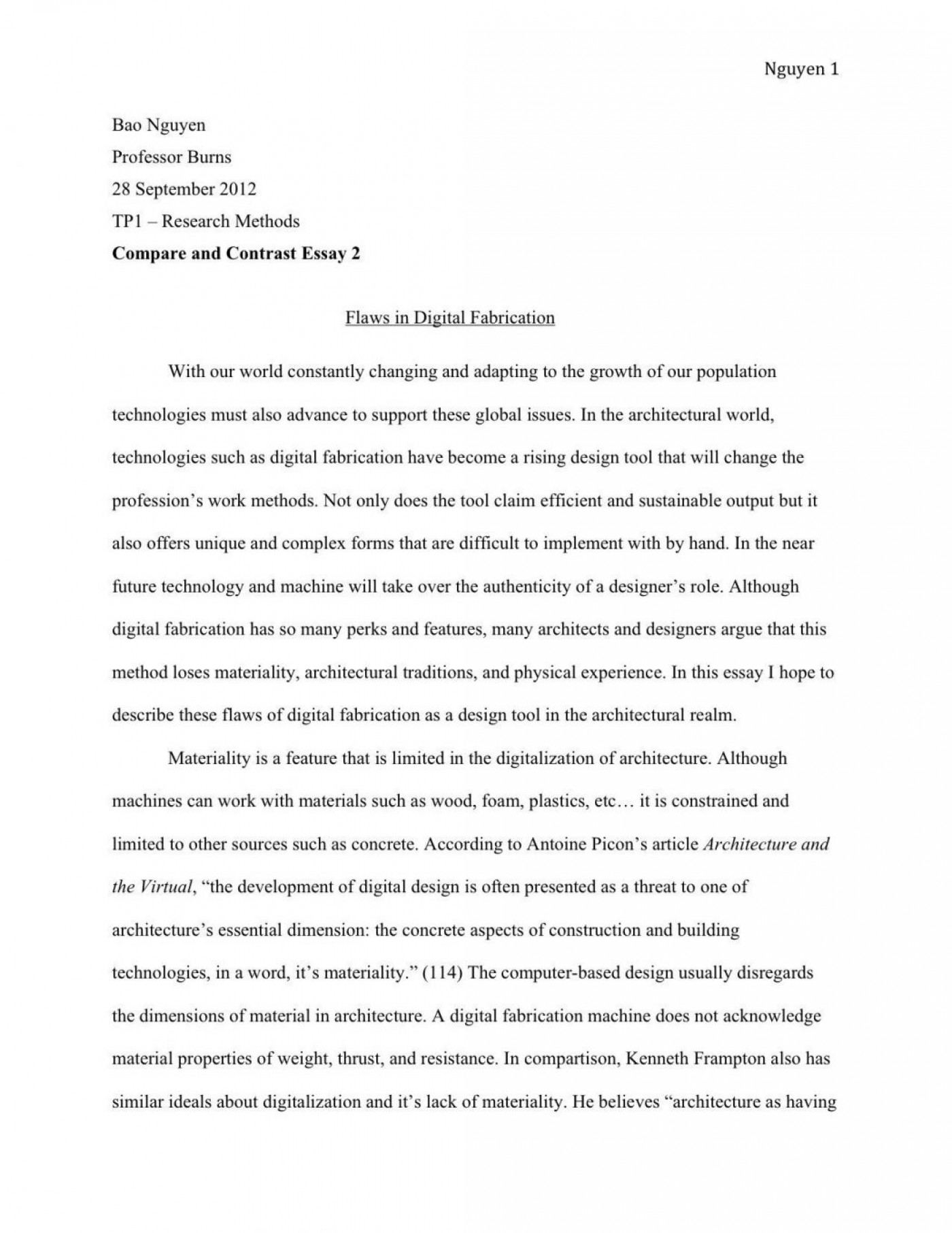 sample application essays