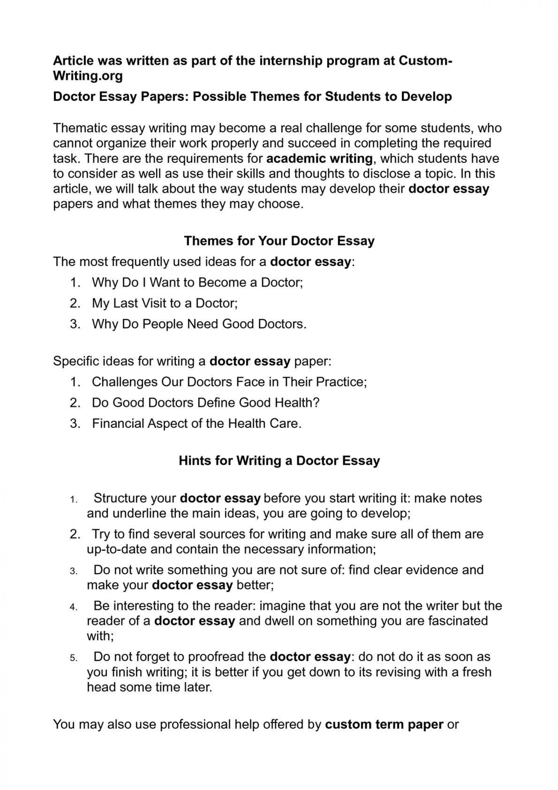 004 P1 Essay Example About Impressive Doctor In Tamil Language Become A 1920