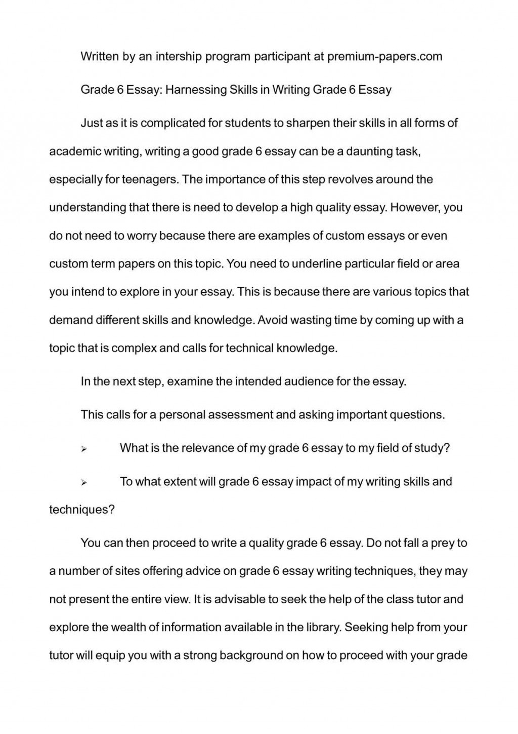 004 P1 Essay Example Grade Imposing 6 Prompts Essays Writing Worksheets Large