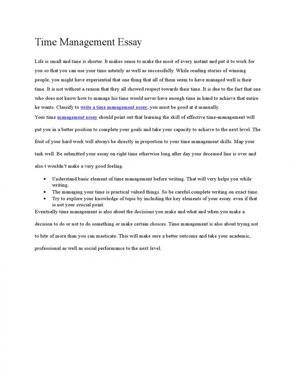 004 Page 1 Time Management Essay Unforgettable 2000 Words Pdf Importance Of In Hindi 960