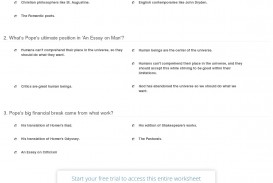 004 Pope Essay On Criticism With Line Numbers Quiz Worksheet Alexander Outstanding