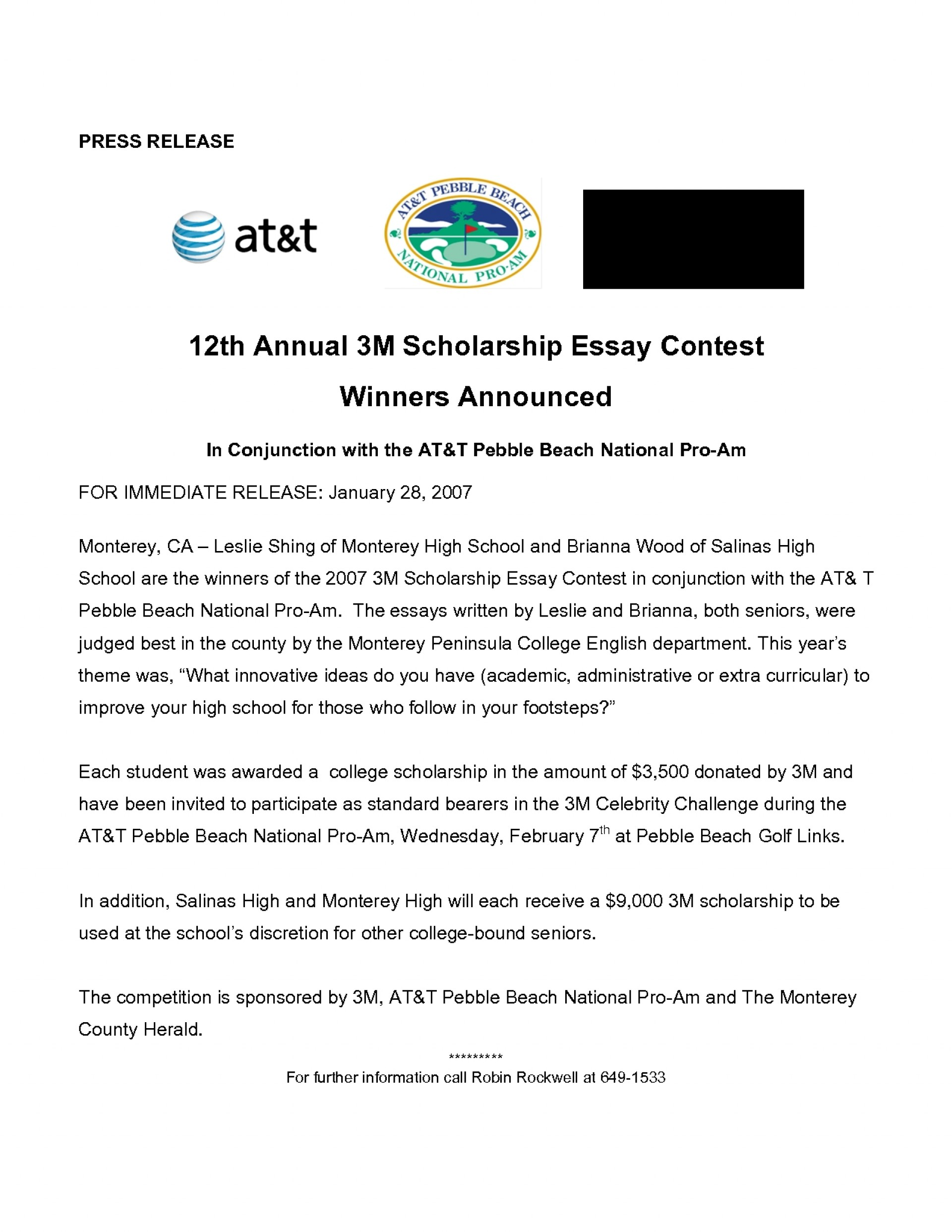 004 Scholarship Essay Contests Example High School Examples Printables Corner Contest Scholarships For College Students Application He Stupendous Middle Seniors 1920