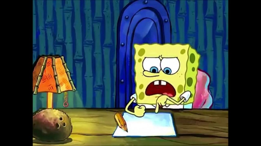 004 Spongebobs Essay Youtube Maxresde Spongebob Writing For Hours Rap The Font Meme Gif Unforgettable Copy And Paste
