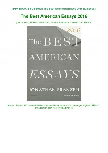 004 The Best American Essays Download Pdf Epub Audiobook Ebook Thumbnail Essay Phenomenal 2016 Sparknotes 360