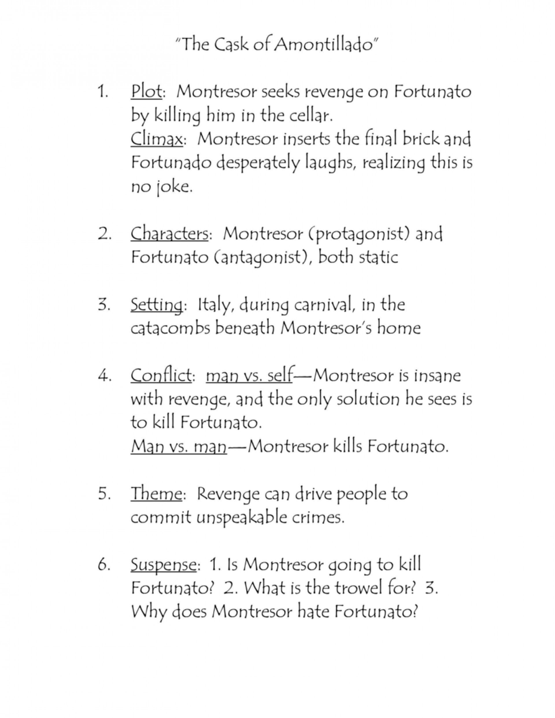 004 The Cask Of Amontillado Essay Example 008065055 1 Unforgettable Outline Prompts Topics 1920