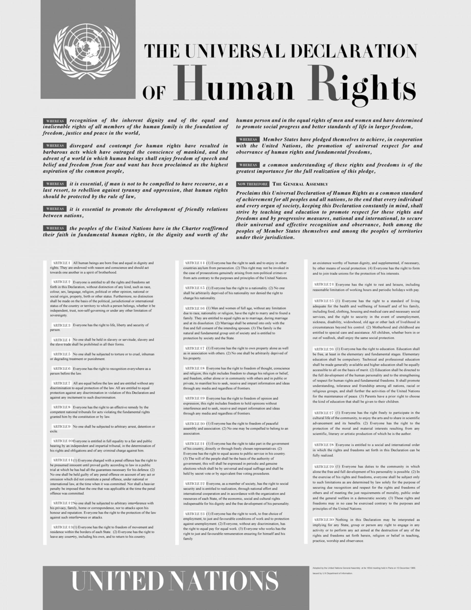 004 Thematic Essay On Human Rights Universaldeclarationofhumanrights Stunning Justice 1920