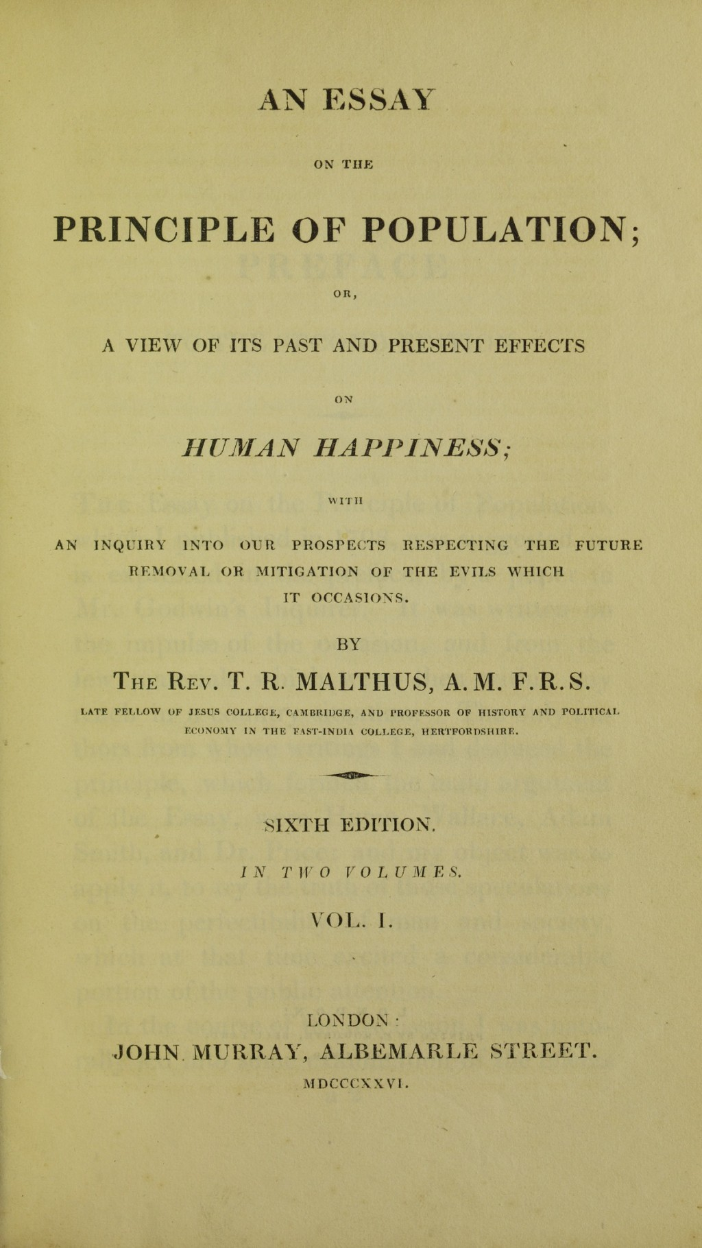 004 Thomas Malthus An Essay On The Principle Of Population Example Lossy Page1 1200px  Population2c 1826 5884843 Marvelous Summary Analysis Argued In His (1798) ThatLarge