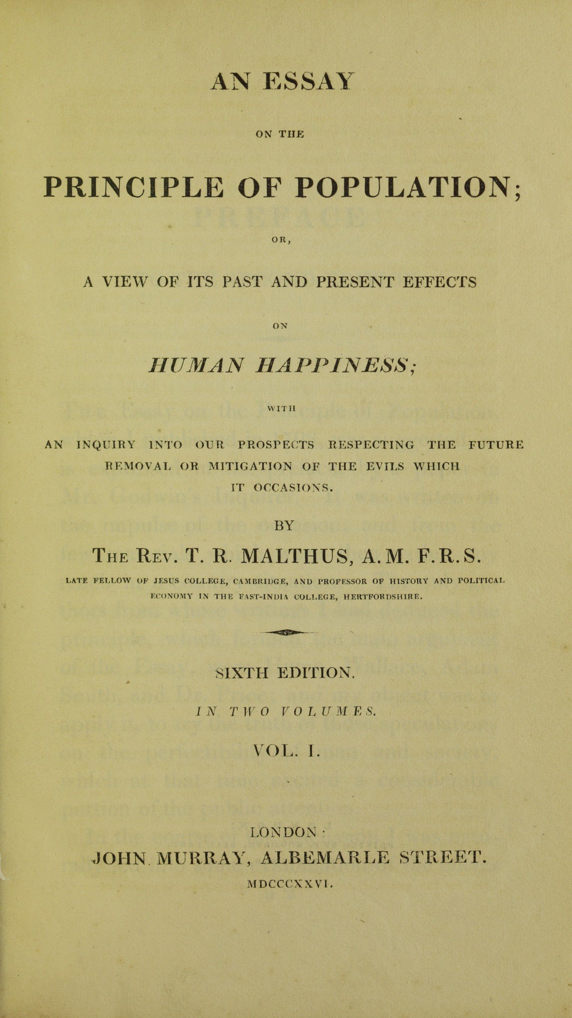 004 Thomas Malthus An Essay On The Principle Of Population Example Lossy Page1 1200px  Population2c 1826 5884843 Marvelous Summary Analysis Argued In His (1798) That1920