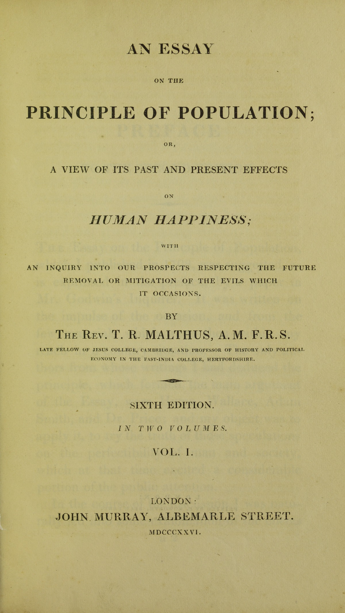 004 Thomas Malthus An Essay On The Principle Of Population Example Lossy Page1 1200px  Population2c 1826 5884843 Marvelous Summary Analysis Argued In His (1798) ThatFull