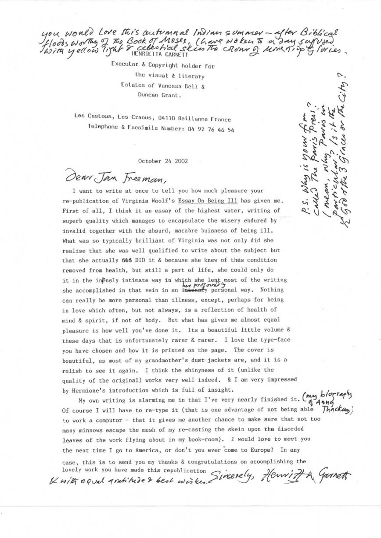 004 Type An Essay Online For Free Henrietta20garnett20letter20to20paris20press Stirring Where Can I