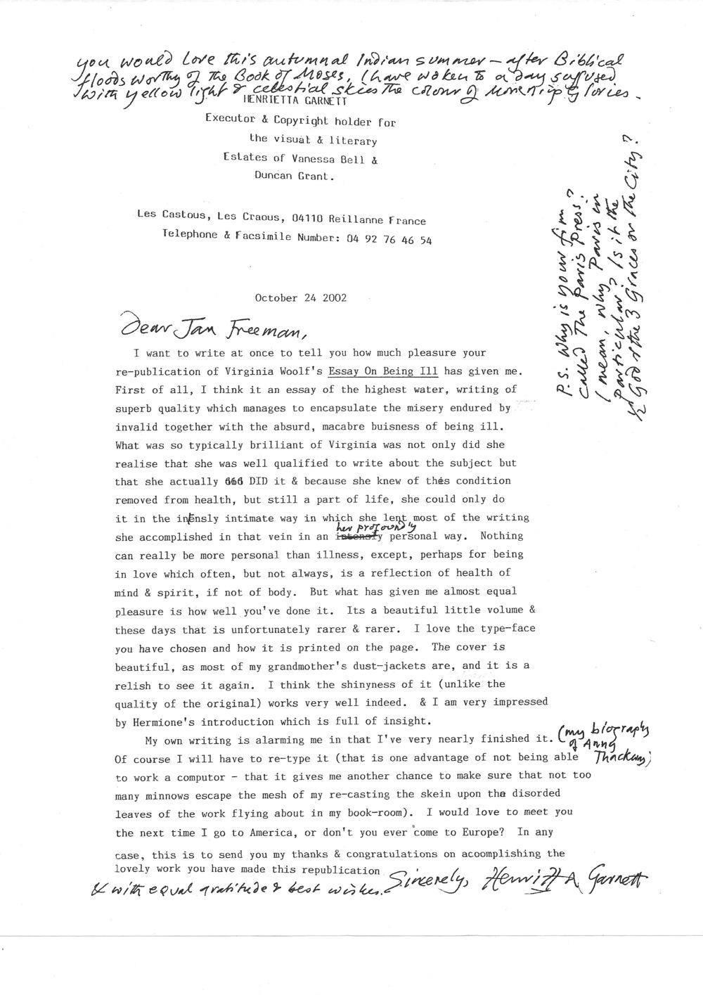 004 Type An Essay Online For Free Henrietta20garnett20letter20to20paris20press Stirring Where Can I Full
