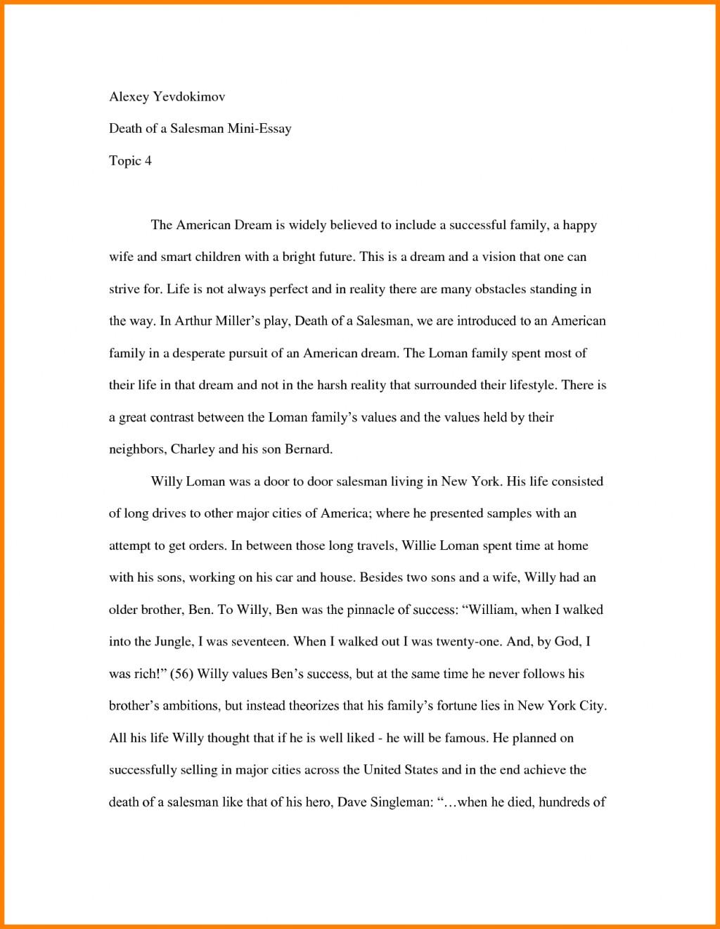 Essay on american scenery