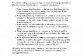 005 008004991 1 The Odyssey Essay Excellent Thesis Hook