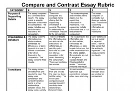 005 008048066 1 Essay Example Compare And Contrast Wondrous Rubric College 7th Grade 320