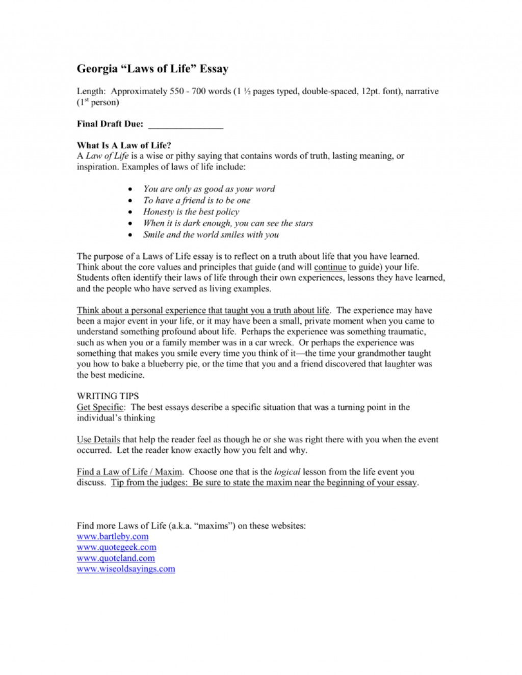 005 008063696 1 Laws Of Life Essays Impressive Essay Examples 2012 Large