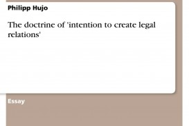 005 109929 0 Essay Example Intention To Create Legal Unbelievable Relations