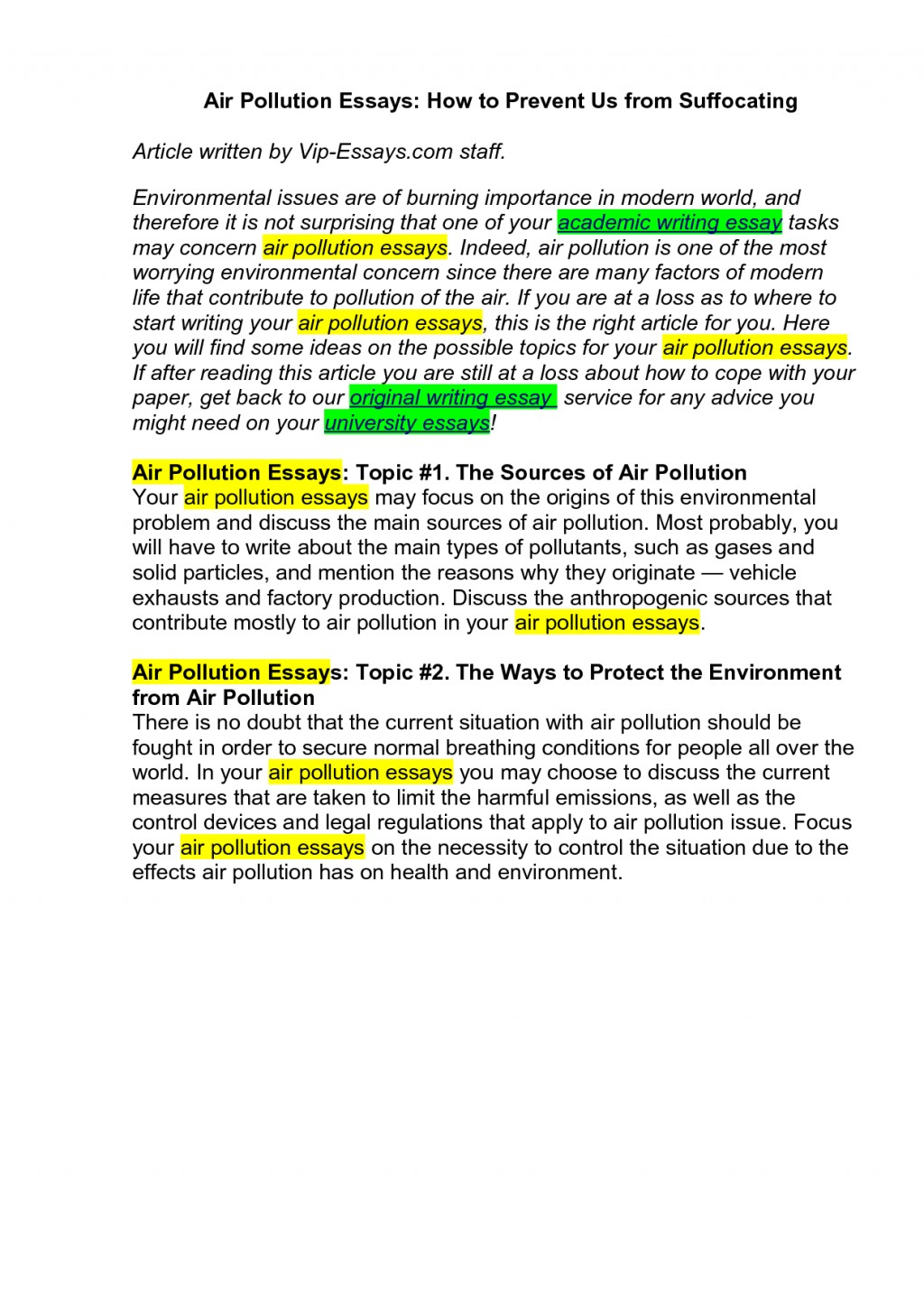 005 1558972385 How To Stop Air Pollution Essay Sensational Outline Thesis Statement Large