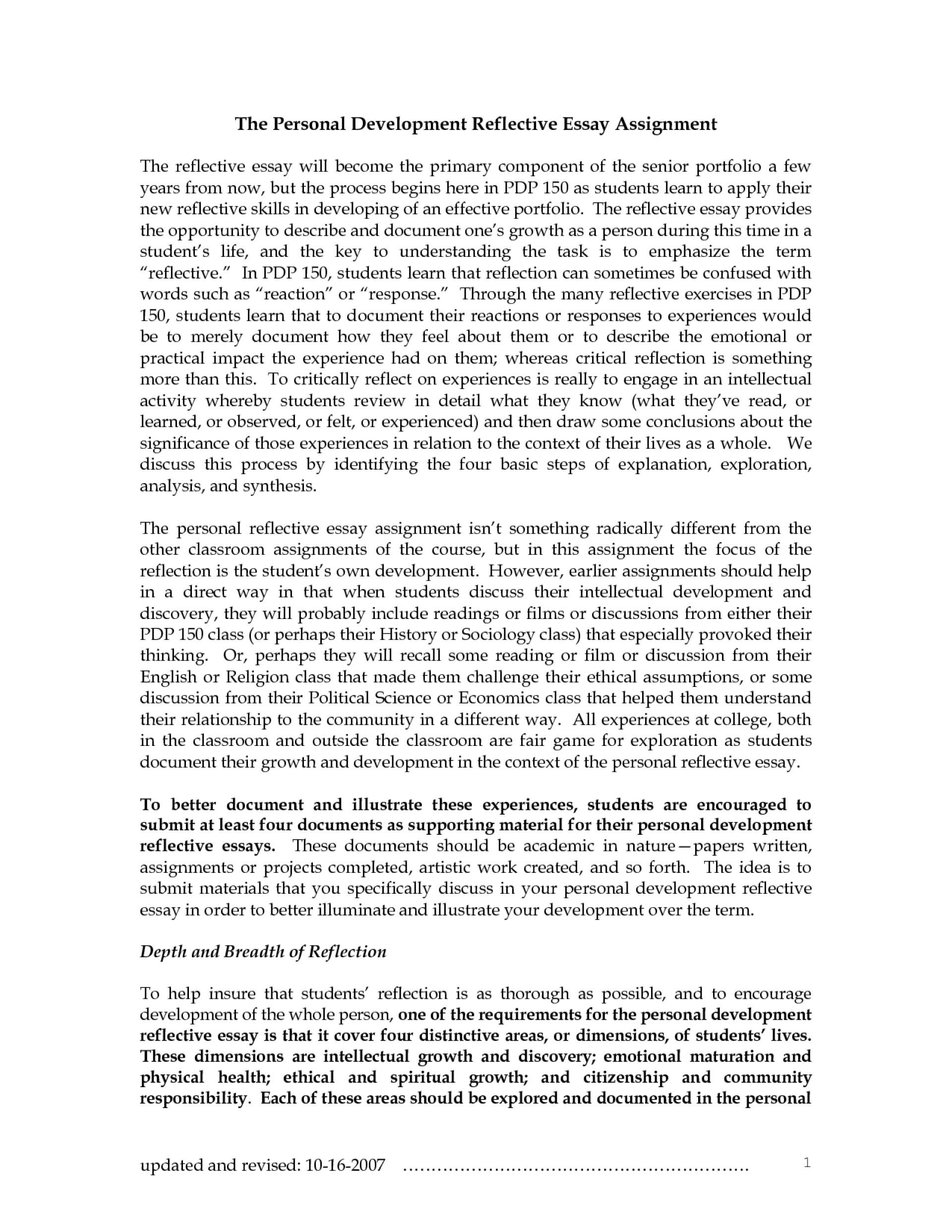 010 professional development essay example
