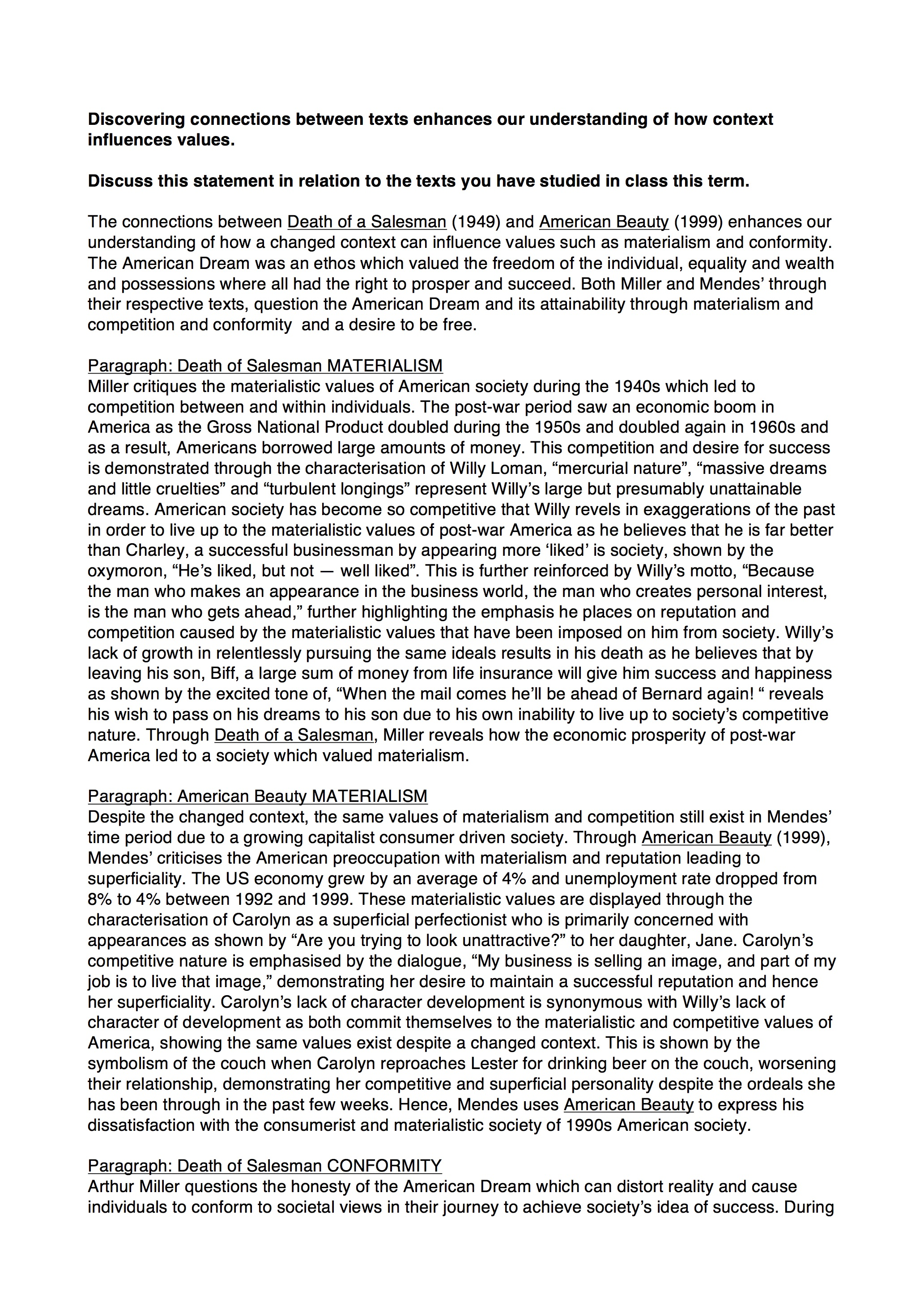005 3720257487merican Beauty Death Salesman Essay Example Of Phenomenal A Topics Outline Introduction Full