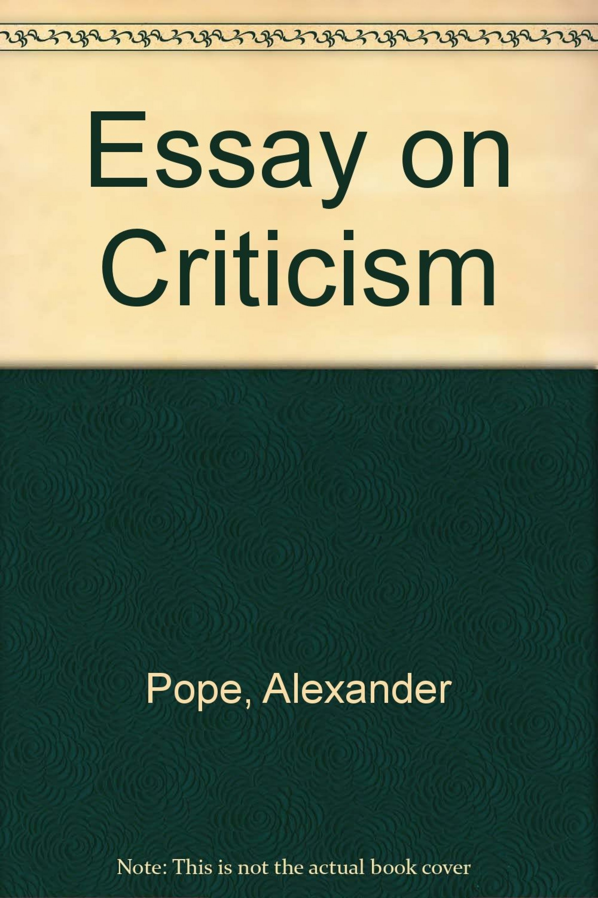 005 Alexander Pope Essay On Criticism Example Outstanding Part 1 Analysis Summary 1920