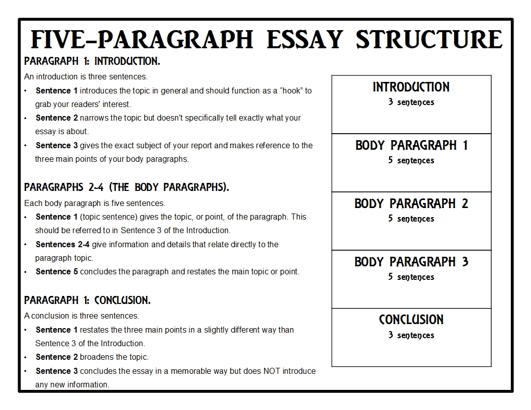005 Animalreport1 Essay Example Five Best Paragraph Graphic Organizer High School Lesson Plan 5 Middle Pdf Full