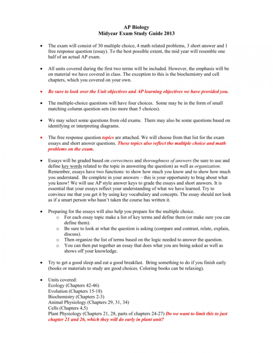 005 Ap Biology Ecology Essay Questions 008035671 1 Wonderful
