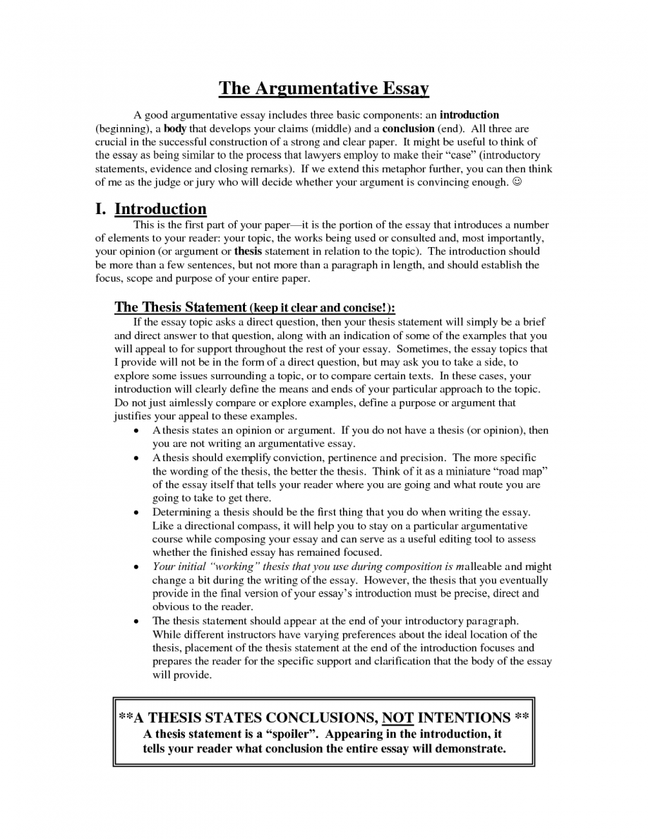 005 Argumentative Essay Introduction Examples Example Help Writing An College Good Persuasive Paragraph Image Ga Samples Personal Awesome Middle School Format Full