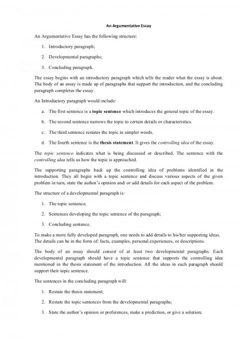 005 Argumentativeessaystructure Phpapp01 Thumbnail Essay Example Persuasive Outstanding Structure Pdf Prezi Nat 5 480