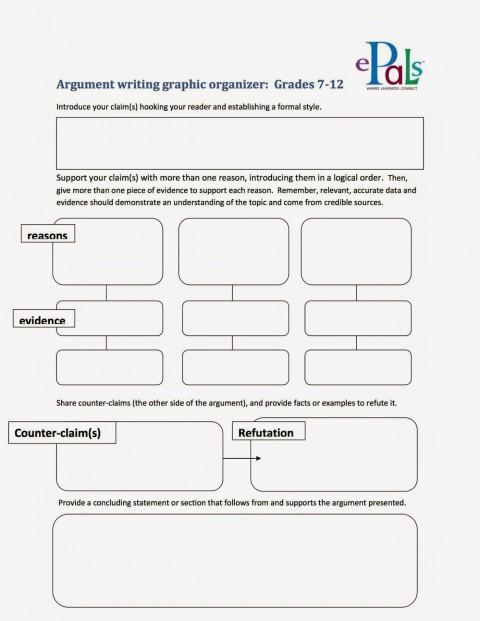 005 Argumentgraphicorganizer2bcopy Argument Essay Graphic Organizer Breathtaking Persuasive Examples Middle School Argumentative Pdf 480