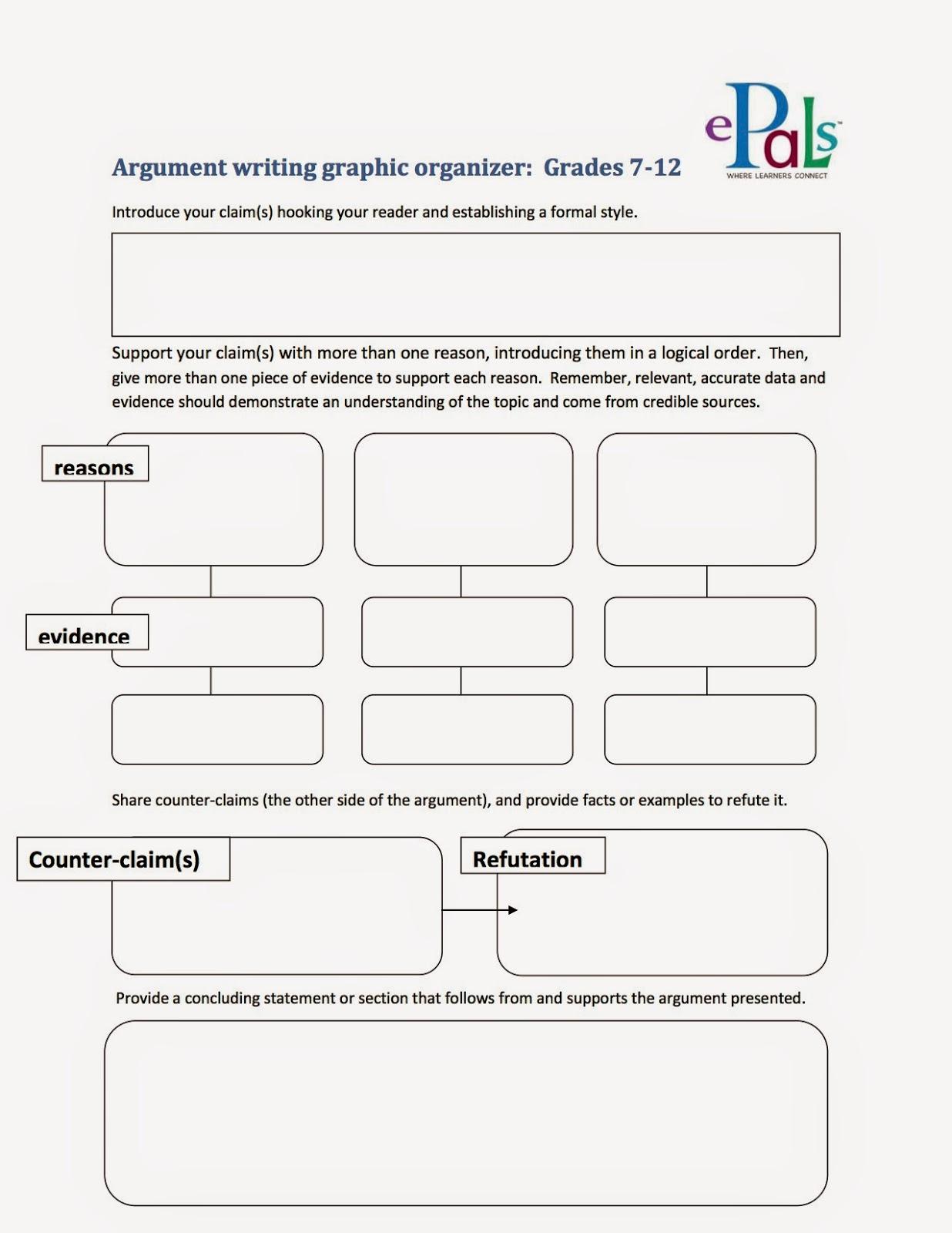 005 Argumentgraphicorganizer2bcopy Argument Essay Graphic Organizer Breathtaking Persuasive Examples Middle School Argumentative Pdf Full