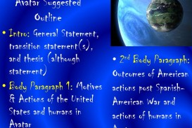 005 Avatarsuggestedoutline Essay Example Avatar Stirring Imperialism