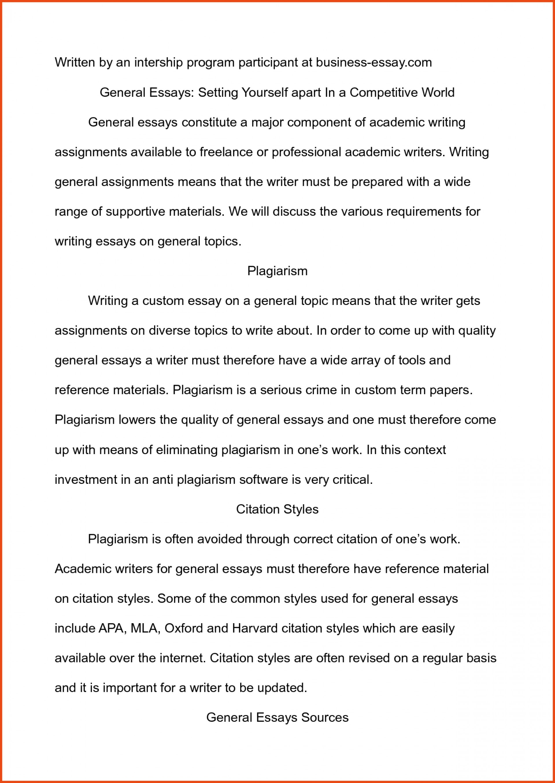About Myself, Free Essay Sample