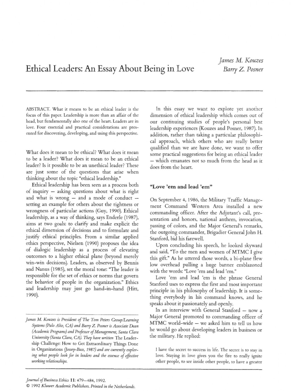 005 Being Leader Essay Example Imposing A Great College Qualities Of Pdf Large
