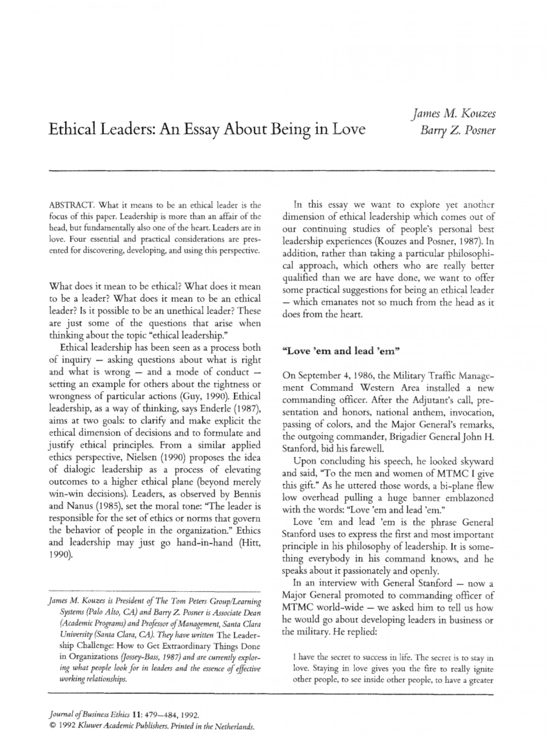 005 Being Leader Essay Example Imposing A Great College Qualities Of Pdf 1920