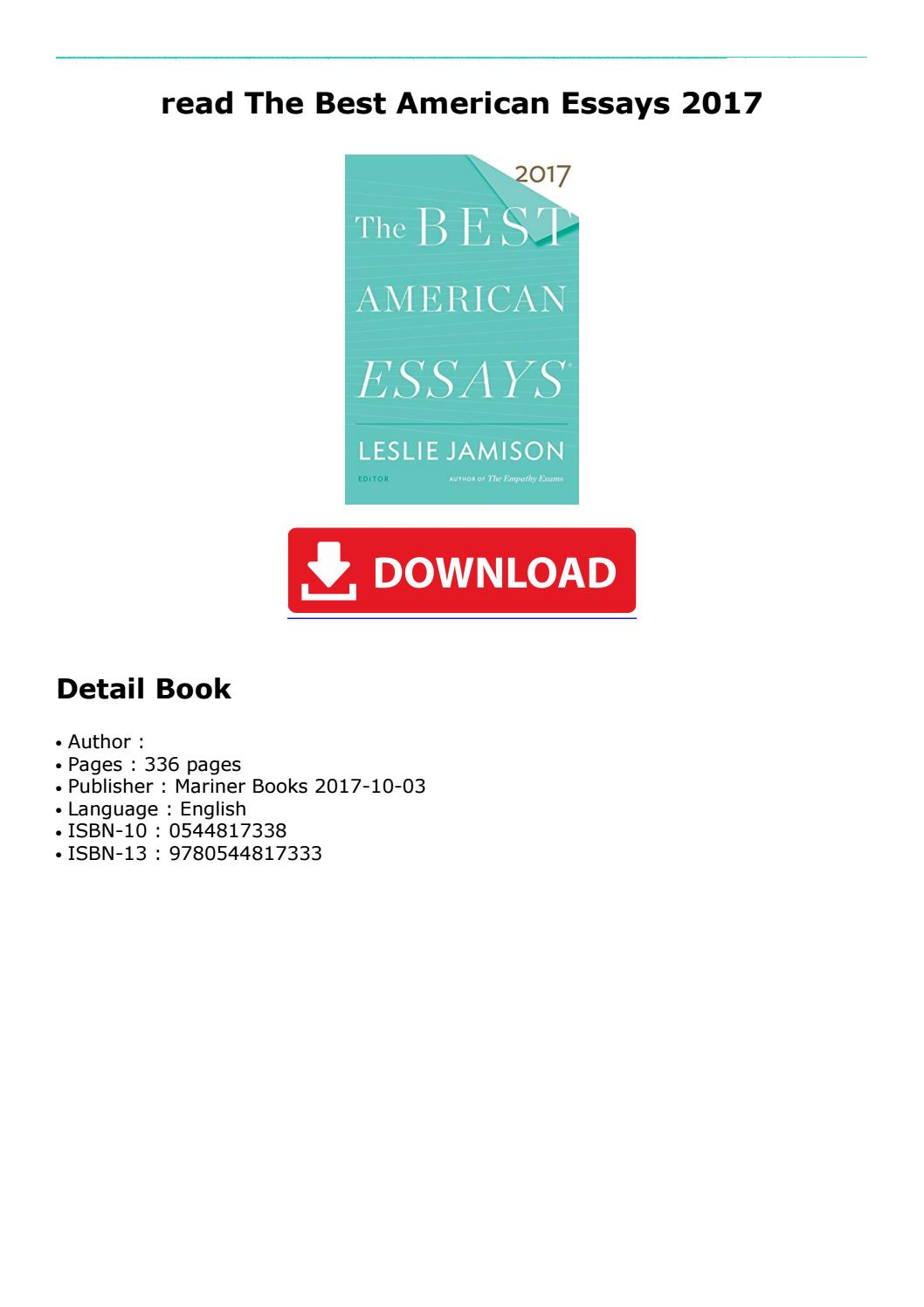 005 Best American Essays Essay Example Page 1 Astounding 2017 Submissions Pdf Free Download Full