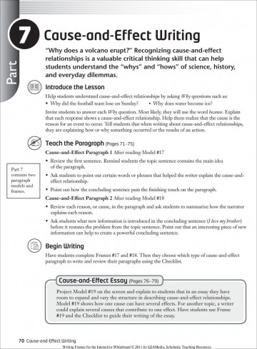 005 Cause And Effect Essay Dreaded Thesis Statement For On Bullying Examples 6th Grade Example Pollution 360