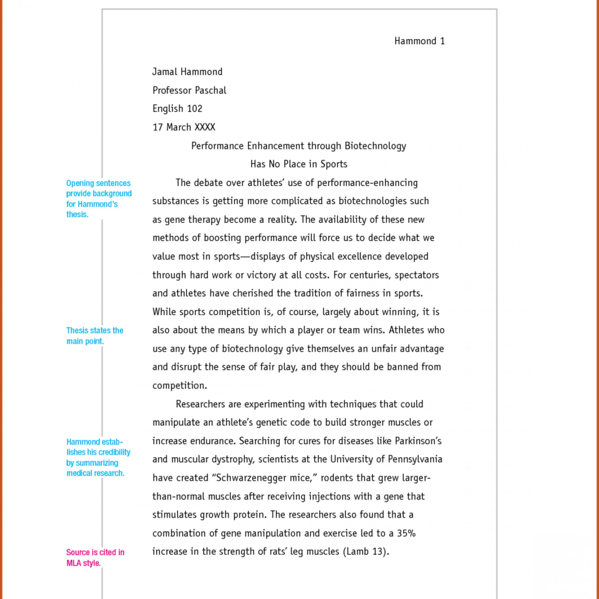 college essay titles examples
