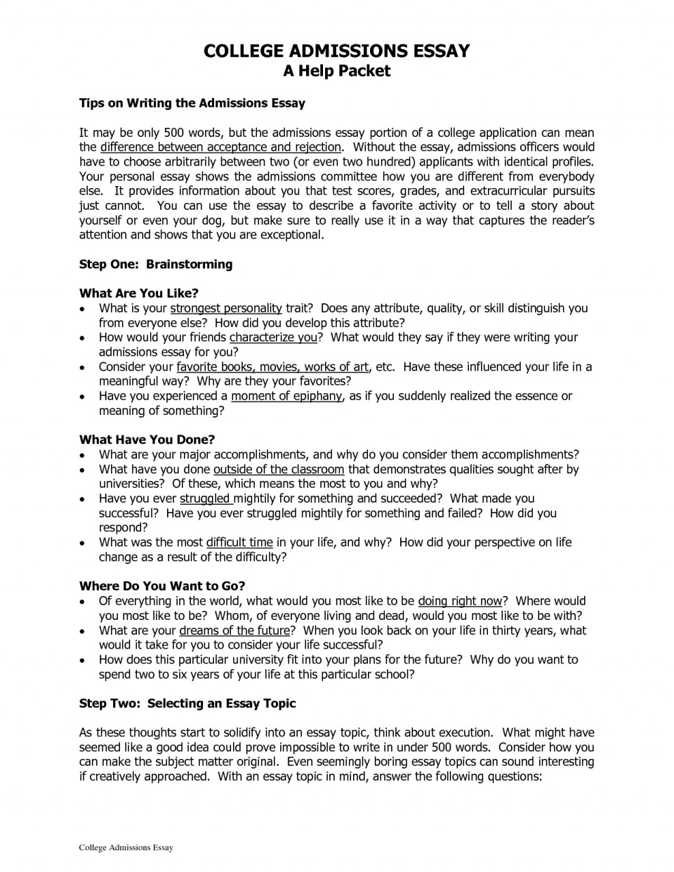 005 College Admissions Essay Exceptional Essays That Worked 12 Admission Format Heading Sample 960