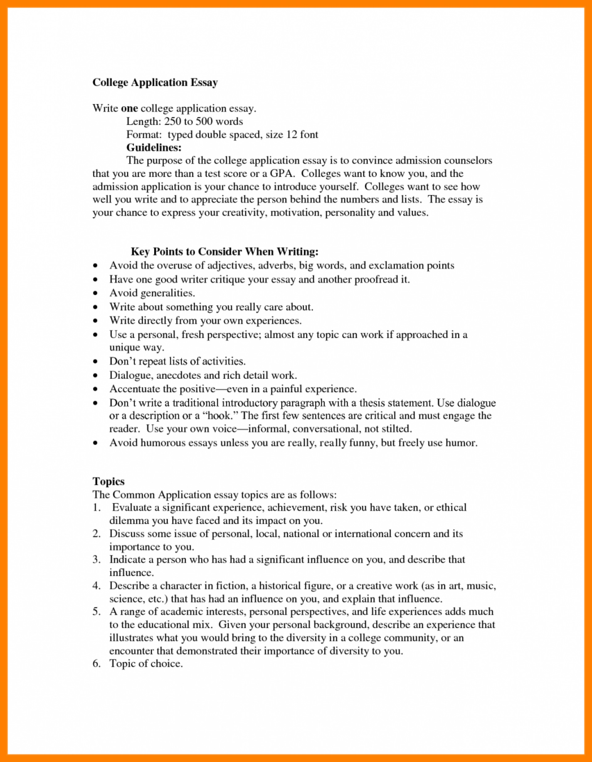 005 College Essay Format Template Example Of Application Double Spaced Compatibl Apa Mla Microsoft Word Heading Formats Examples Common App Sample Stirring Admission 1920