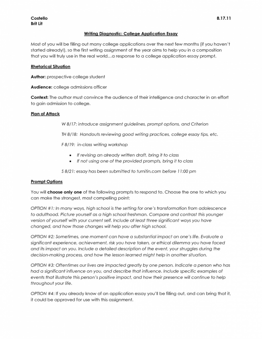 005 College Essay Header Example Ap English Essays How To Write Proposal With High Within Admission Archaicawful Application Margins Large