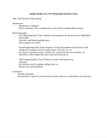 005 College Level Narrative Essay Outline Marvelous Template Example 360