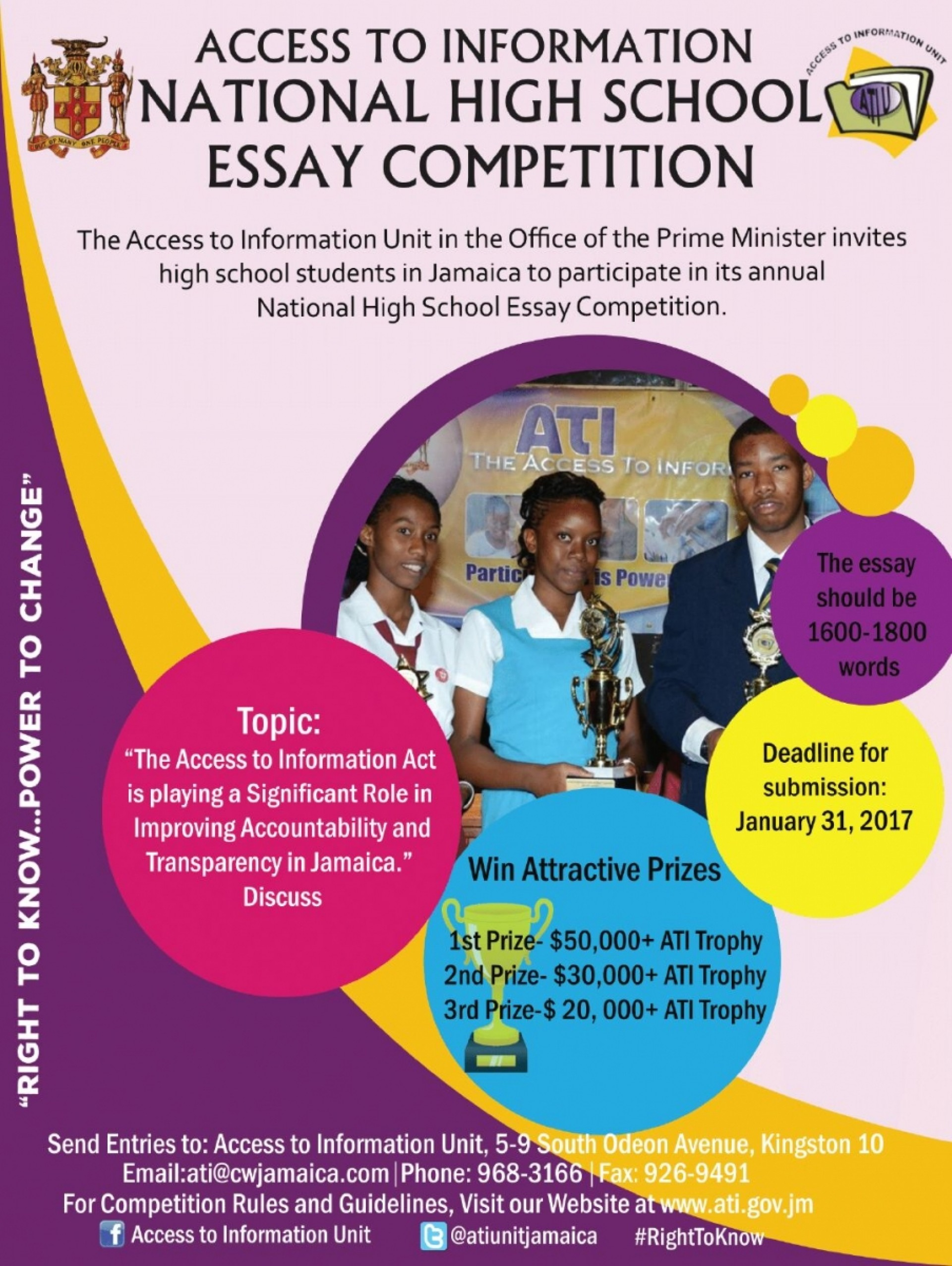 005 Deadline Ati Essay Competition Youth Information Centers Ncyd Contests For Highhool Students April Middle Competitions International Writinghoolers Example Staggering High School 2017 1920