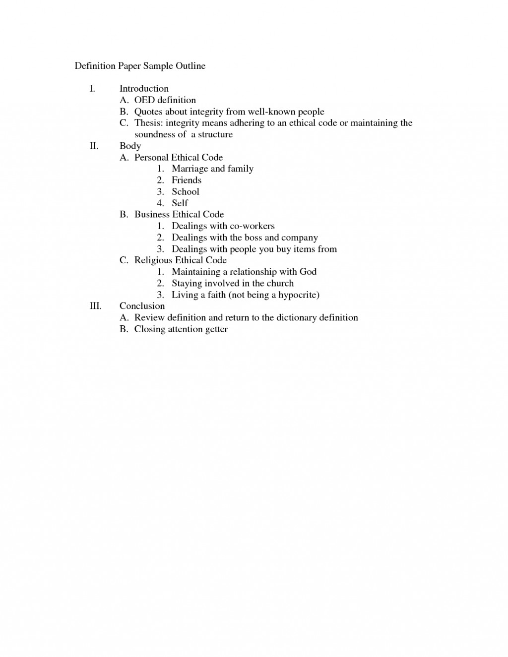 005 Definition Essay Outline Example Best Photos Of Blog Template Format Online 4 Apa Word For College Doc Mla Middle School High Unique Writing Pdf Hero Success Large