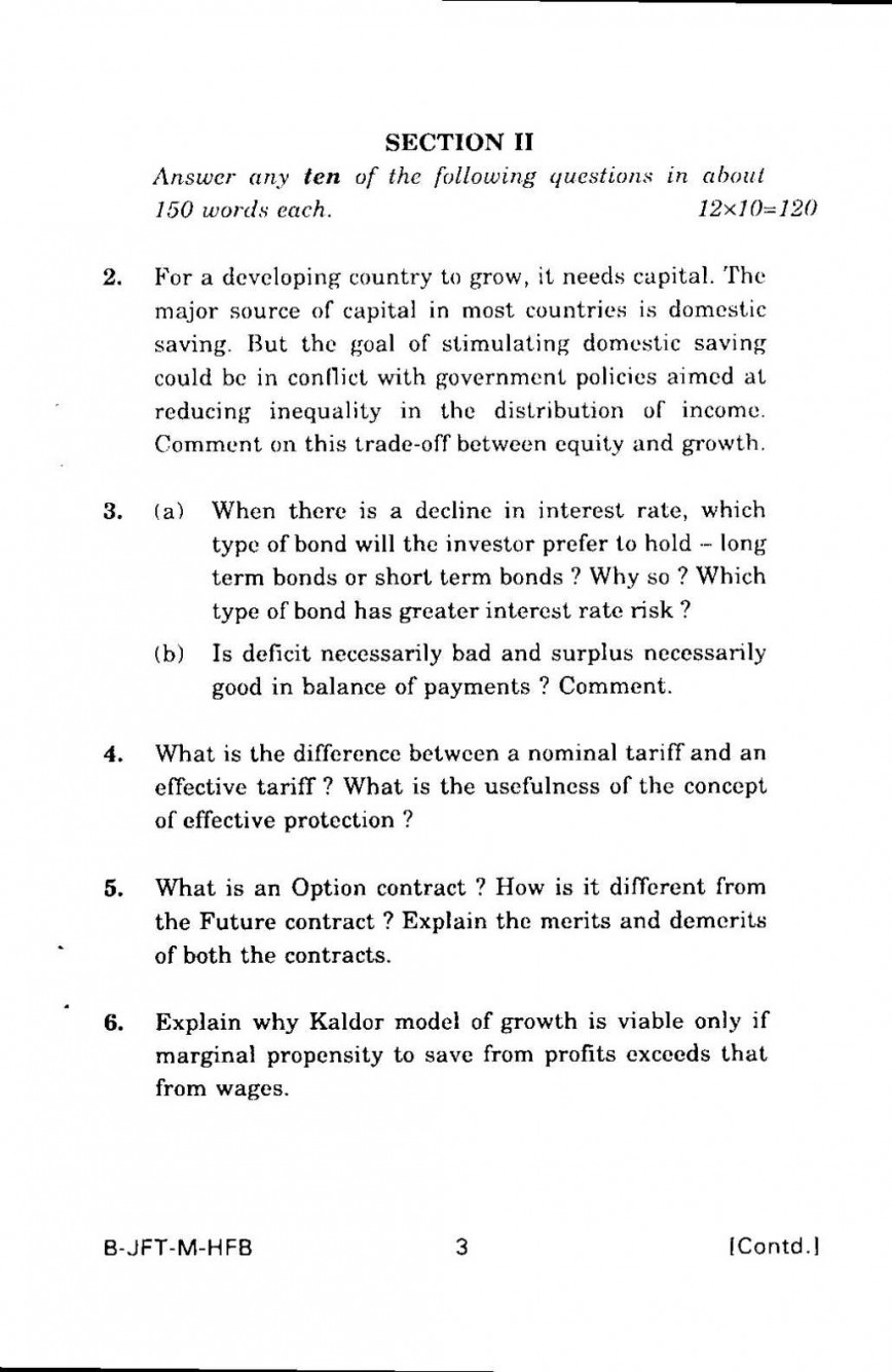 005 Economics Essay Topics Indian Economic Service Exam General Paper Ii Previous Years Question P Page 3 Formidable Grade 10 Questions