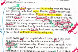 005 English Writing Sample Essays Essay Example Unexpected Event Striking Creative